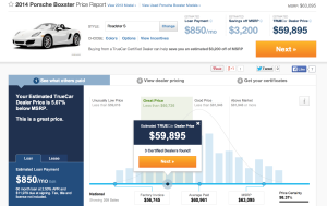 Truecar.com new vehicle pricing tool