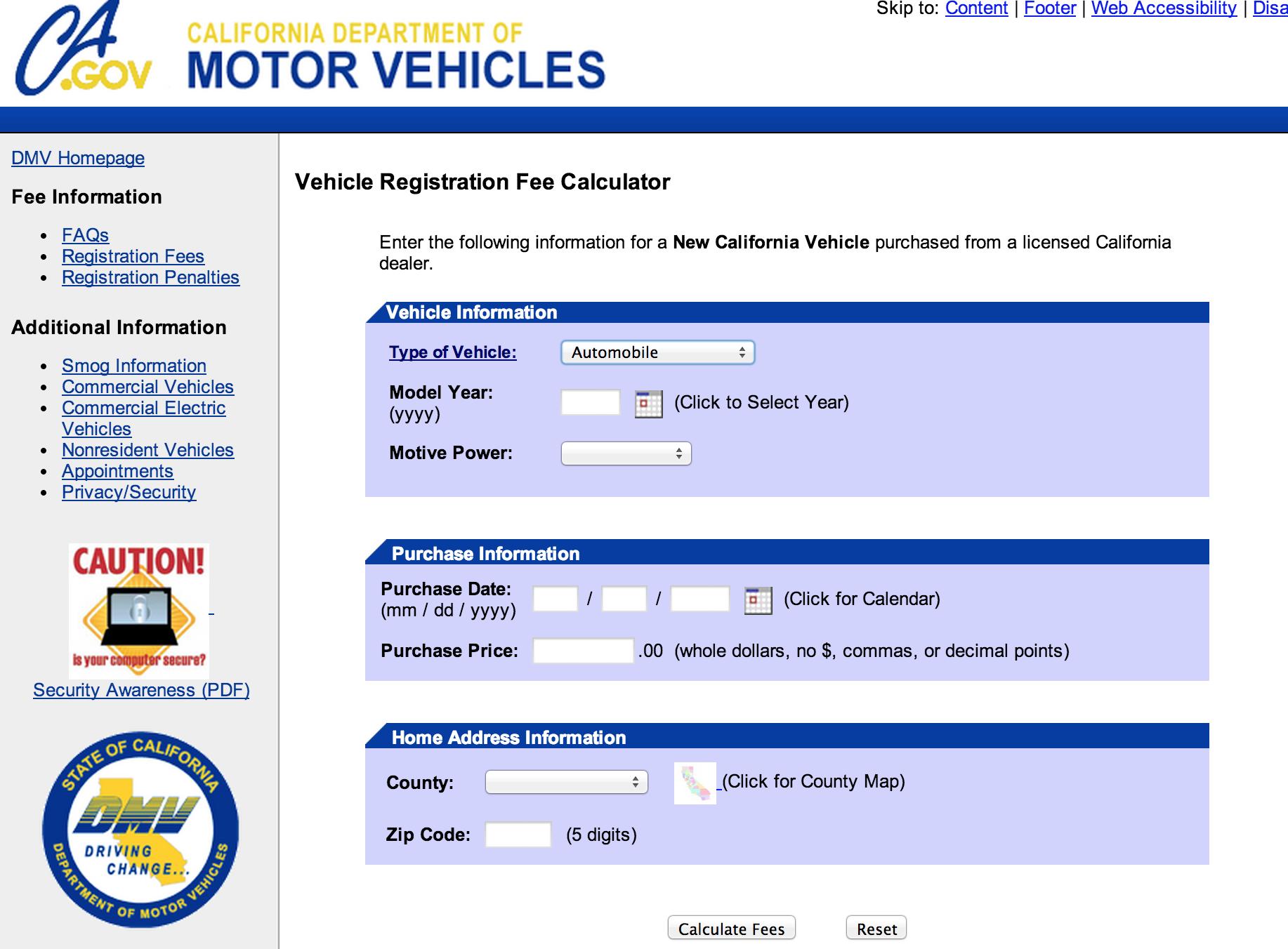 Dmv Car Sales Tax Calculator