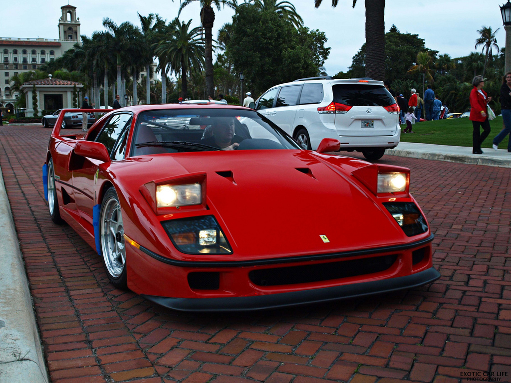 """F40 - High Beaming"" by Exotic Car Life is licensed under CC BY 2.0"