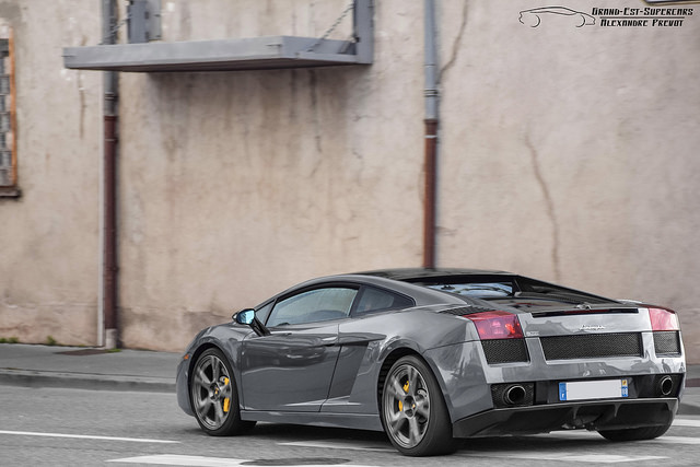 Lamborghini Gallardo SE in gray rear 3/4 shot